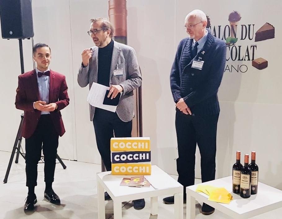 Premiazione Paolo Viola durante l'apertura del Salon du Chocolat 2018