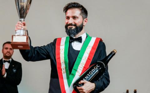 Simone Loguercio Miglior Sommelier d'Italia Premio Trentodoc