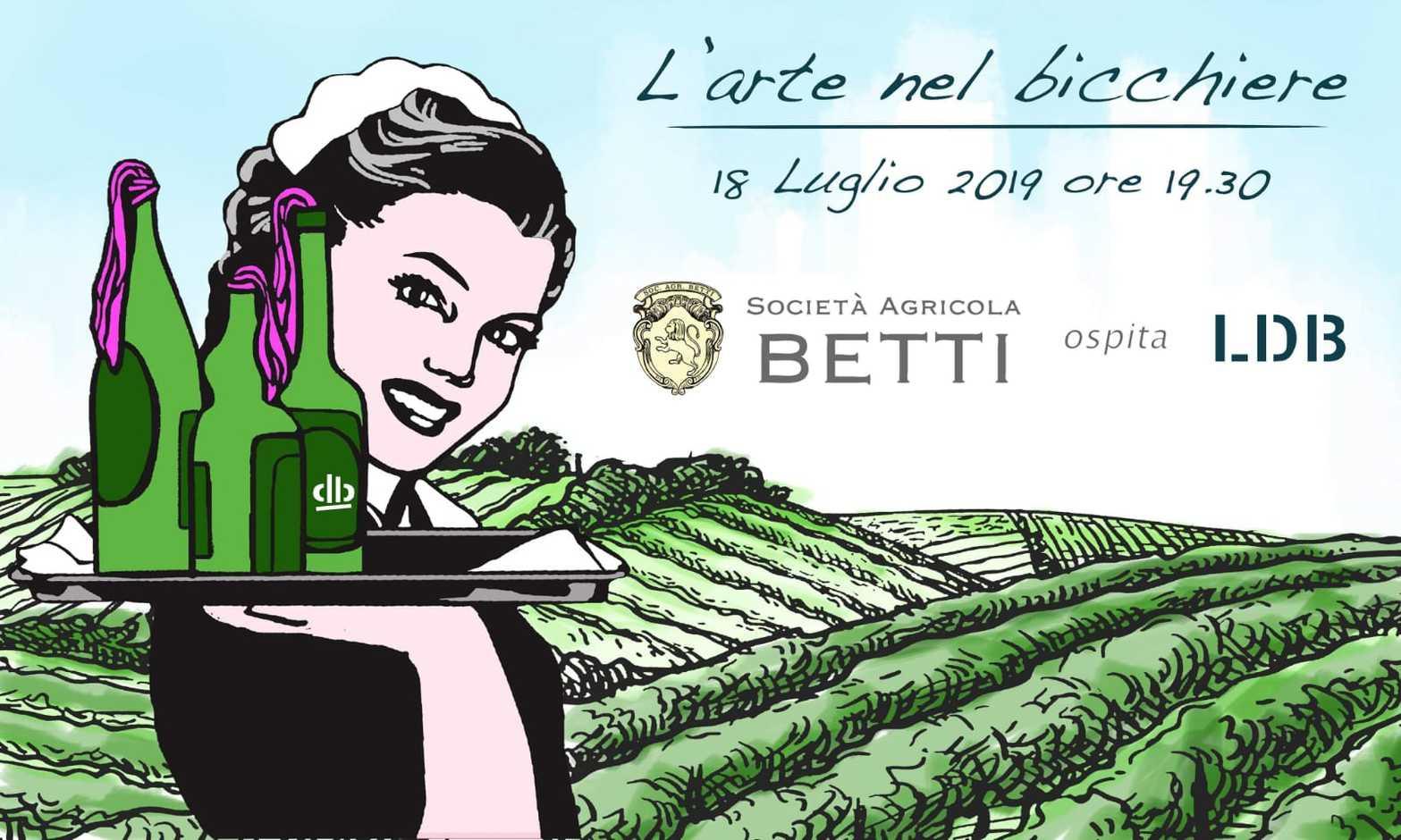 """FATTORIA BETTI ospita l'artista LDB:  un incontro tra eccellenze pistoiesi all'insegna di vino ed arte   Fattoria Betti, cantina con 20 ettari di vigneto ubicata a Quarrata, nella provincia di Pistoia, continua il suo percorso di profonda connessione con il mondo dell'arte, e stavolta lo fa insieme al noto stencil artist pistoiese LDB.  Questo mese si profila infatti piuttosto vivace per l'azienda vinicola fondata nel 2003 e guidata dai fratelli Guido e Gherardo Betti, dato che il prossimo Giovedì 18 Luglio verrà inaugurata nella tenuta una personale di LDB: l'appuntamento è fissato alle 19.30 in cantina, quando il pubblico potrà finalmente scoprire le opere. La presentazione sarà accompagnata da un aperitivo curato dai sommelier della Delegazione Fisar Pistoia, che serviranno uno dei vini bianchi della gamma, Bianco di Toscana IGT CRETO DE' BETTI 2018, insieme alle creazioni gastronomiche dei personal Chef di """"The Dinner"""".  Tutto avrò lo speciale costo di euro 15,00.  LDB è nato a Pistoia e il genere di graffiti art noto come stencil art ha per lui rappresentato fin dalla sua formazione primaria - avvenuta nella città natale - la principale forma di espressione. Si tratta di una tecnica in cui i graffiti vengono realizzati attraverso uno stencil, maschera normografica da cui è diffusa la vernice spray: in questo modo è possibile riprodurre una stessa identica immagine in un illimitato numero di copie. LDB ha sempre considerato questo procedimento non solo in senso decorativo, ma come uno strumento espressivo che gli ha consentito di intervenire nella città integrandosi con gli scenari urbani ed esaltandoli. Negli ultimi anni è poi giunta la meritata consacrazione, quando la sua opera Batman.2 è stata inserita nella più importante piattaforma multi-channel mondiale del settore, """"Global Street Art"""".   FATTORIA BETTI Via Boschetti e Campano, 66 - 51039 Quarrata (PT) ITALIA  info@fattoriabetti.it - IG@fattoriabetti - www.fattoriabetti.it Come anticipato, per celebrare """