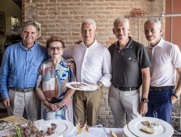 La famiglia Bonzano con Donato Lanati