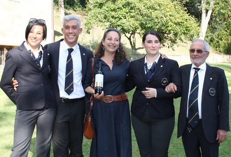 Diana e Vincenzo D'Isanto con i tre finalisti