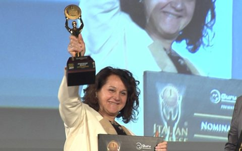Emanuela Perenzin sul podio dell'Italian Cheese Awards 2019
