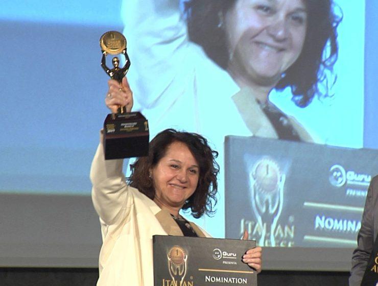 Emanuela Perenzin sul podio dell'Italian Cheese Awards 2019