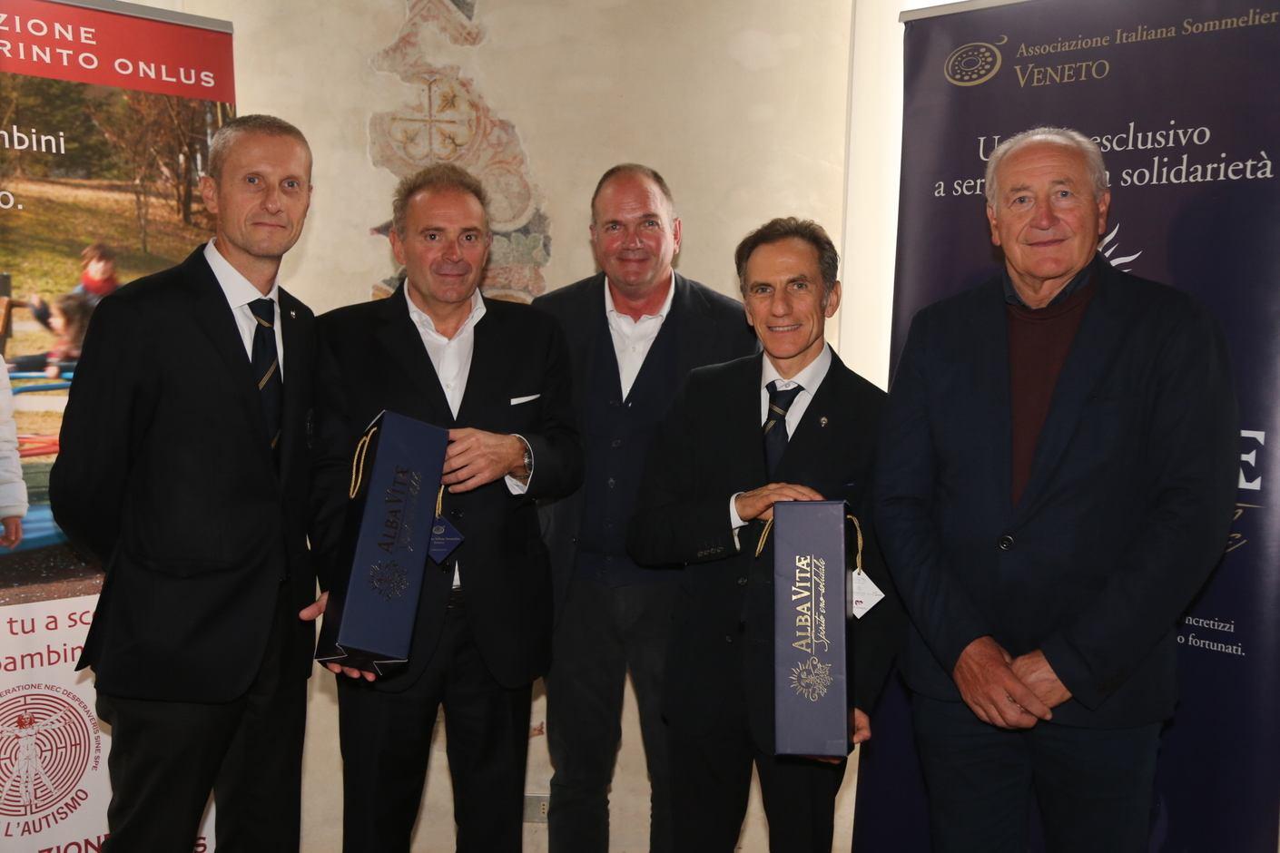 Marco Aldegheri, Mario Paganessi, Antonio Bonotto delle Tezze, Wladimiro Gobbo, Alberto Cais